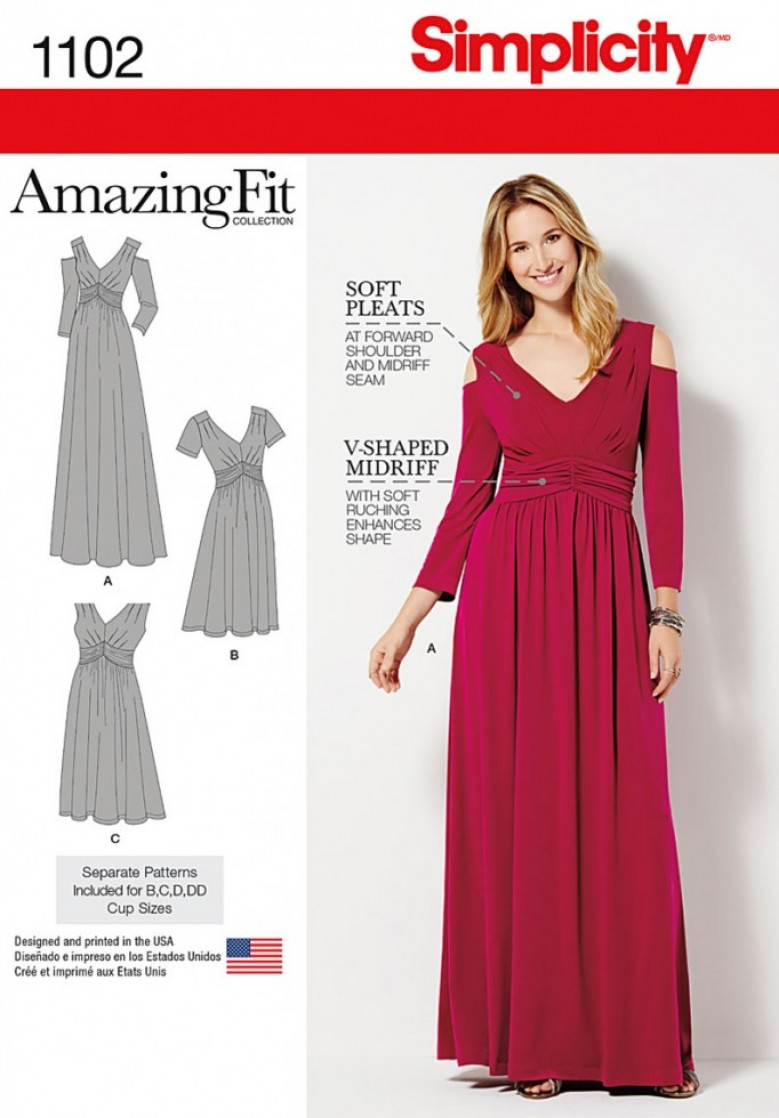 35ac016ad6827 Another Gem in the Simplicity Crown is their Amazing Fit Collection.  Featuring separate pieces for Cup Sizes B-DD, these patterns live up to  their name and ...