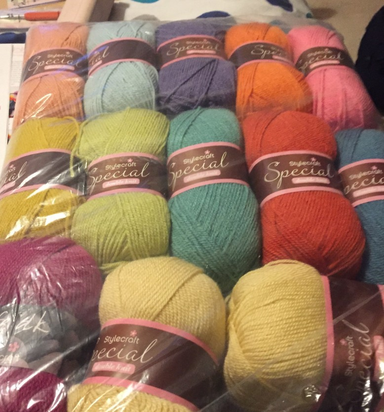 85aaabd3b61 The kit contains fourteen 100g balls of Stylecraft Special Double Knit yarn  which is 100% acrylic and machine washable, enough to complete the make, ...